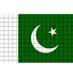 The mosaic flag of Pakistan vector