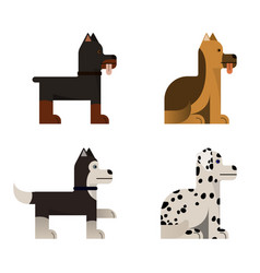 Thoroughbred dogs sits and stand vector