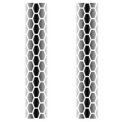tire track with lines vector image