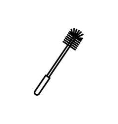 toilet brush icon vector image