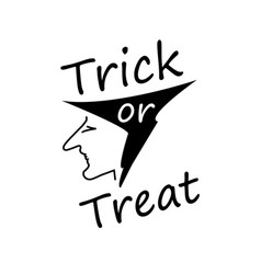 trick or treat halloween celebrations witch head vector image