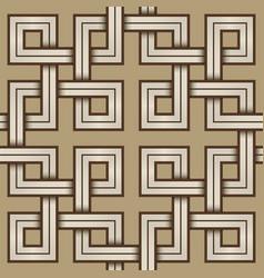 viking seamless pattern - engraved - interweaved vector image