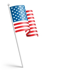 Wavy USA national flag isolated on white vector image