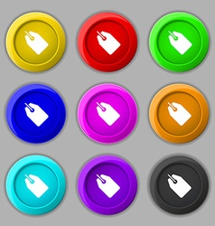 Web stickers tags and banners icon sign symbol on vector