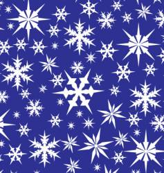 White snowflakes on blue vector
