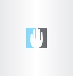 blue black human hand icon logo vector image vector image