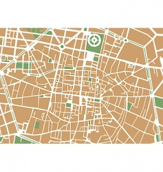 city center map vector image vector image