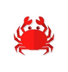 Crab flat vector image vector image