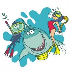 diving school vector image