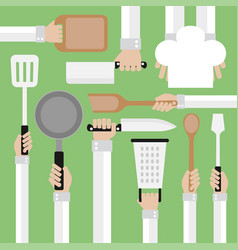 flat modern design conceptcooking tools vector image vector image