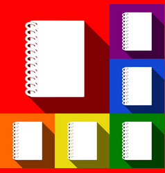 notebook simple sign set of icons with vector image