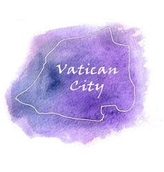 Vatican City watercolor map vector image vector image