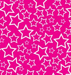 white stars on pink background vector image