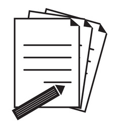 document icon on white background flat style vector image vector image