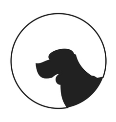 Silhouette of a dog head beagle vector image vector image