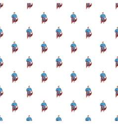 Superhero in action pattern cartoon style vector image vector image