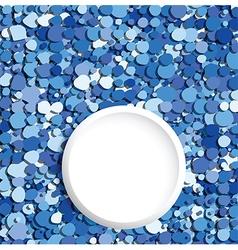 blue bubbles text place vector image