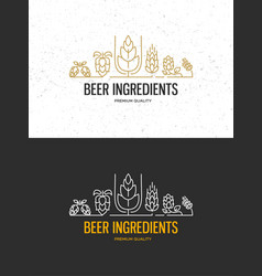 Brewery beer house labels vector