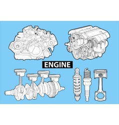 engines vector image