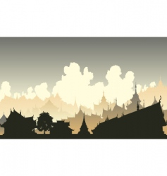 oriental city vector image vector image