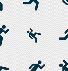 running man icon sign Seamless pattern with vector image vector image
