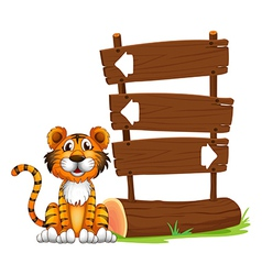 The little tiger vector image vector image