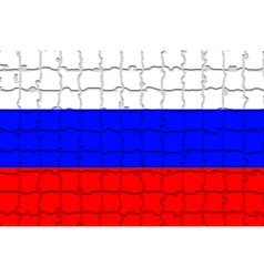 The mosaic flag of Russia vector image vector image