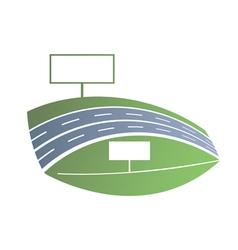 Blue road vector image vector image