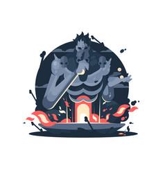 character of hades god death vector image