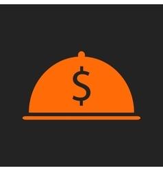 Orange restaurant business icon vector image vector image
