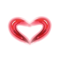Red heart symbol of love vector image