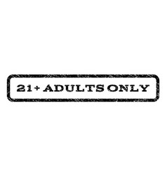21 plus adults only watermark stamp vector image