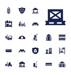 22 warehouse icons vector