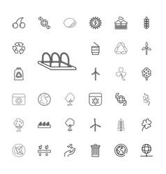 33 ecology icons vector