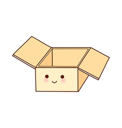 A box is placed vector