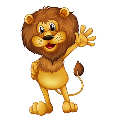 A lion waving vector image