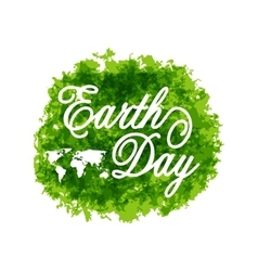 Abstract Background for Earth Day Lettering Green vector