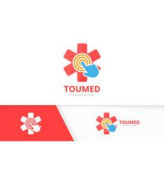 ambulance and click logo combination medic vector image