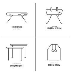 Artistic Gymnastics Logo Set vector image