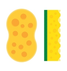 Bath sponge kitchen sponges flat icon vector