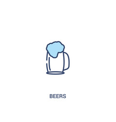 Beers concept 2 colored icon simple line element vector