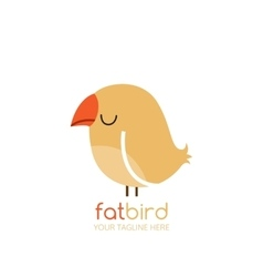 Bird logo design template vector image