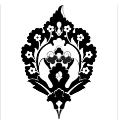 Black oriental ottoman design forty six vector