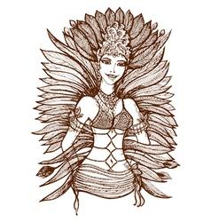 Brazilian girl vector