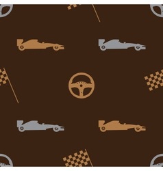 brown automotive icon pattern eps10 vector image