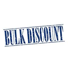 Bulk discount blue grunge vintage stamp isolated vector