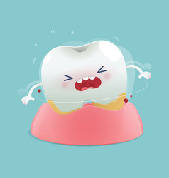 Cartoon loose teeth vector