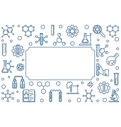chemistry minimal concept frame in thin vector image