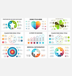 Circle arrows linear infographic cycle vector