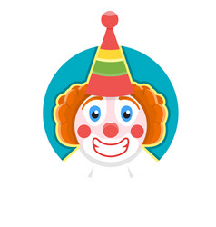 clown icon vector image